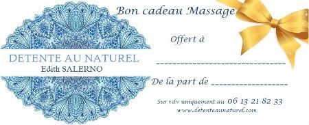 chèque cadeau massage Détente au Naturel